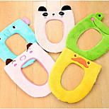 A068 Cute Cartoon Animals Warm Winter Fluff Toilet Seat Toilet Seat Cover Toilet Potty Toilet Mat Sets