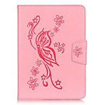 PU Leather Material Butterflies Embossed Rhinestone Tablet Case for iPad Mini 4