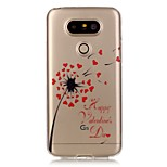 Hollow High Permeability Love Dandelion Pattern TPU Soft Case Phone Case For LG G5/K5
