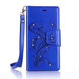 For LG K10/K7/G5/G4 Luxury Retro Butterfly Diamonds embossed wallet Phone Cover With Stand Card Holder