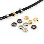 Beadia 50Pcs 10mm Round Big Hole Acrylic CCB Plastic Spacer Loose Beads European Rings (6mm Hole)