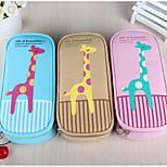 Korea Stationery Large Capacity Canvas Pencil Case Stationery Stationery Animal Housing