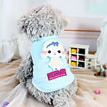 Dog Shirt / T-Shirt Blue Winter Solid Holiday, Dog Clothes / Dog Clothing-Other