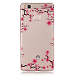 TPU + IMD Material Plum Flower Pattern Slim Phone Case for Huawei P9 Lite/P9/P8 Lite/Y625