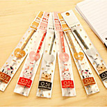 Stationery Cartoon 0.5MM Needle Gel 1PCS Pen Refill Black for Common Core