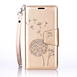 PU Leather Material Dandelion Pattern The Drill Phone Case for  LG K10/K7/K5/G5