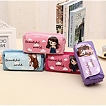 Korea Cute Girl Student Minimalist Pencil Multilayer Creative Stationery Large Capacity