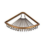 All Copper Retro Single Triangle Basket for Bathroom