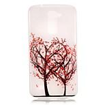 Tree Pattern Pattern Relief Glow in the Dark TPU Phone Case for LG K10/K8/K7/K5