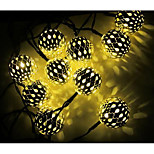 Solar Led String Lights With 10Led Ball 1.2V Holiday Decoration Lamp Festival Christmas Lights Outdoor Lighting