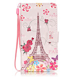 PU Leather Material 3D Painting Butterfly Tower Pattern Phone Case for LG K5/K7/LS775