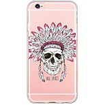 Skull Pattern Soft Ultra-thin TPU Back Cover For iPhone 6 Plus/6s/6/5s/5