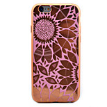 Flower Pattern Plating TPU Soft Case Phone Case for iPhone 6/6S