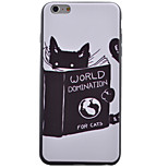 Body collant Pare-chocs / Extra-Fin / Motif Chat TPU Doux Shockproof / Ultra-thin Couverture de cas pour AppleiPhone 6s Plus/6 Plus /
