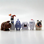 Inspired By Secret Life of Pets 6 Pets Rubber Figures Squeeze Make Sound