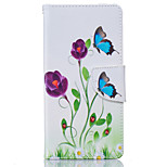 Blue Butterfly Pattern Card Phone Holster for Huawei P9/P9 Lite/Honor 5X