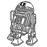 R2-D2 Robot Star Wars Astromech Droid Wall Stickers Creative Fashion Living Room Wall Decals
