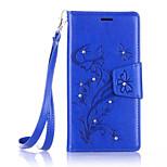Butterfly Flower Diamond Flip Leather Cases Cover For LG G5/K5/K7/K10 Prime Strap Wallet Phone Bags