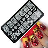 1pcs  New Nail Art Stamping Plates  DIY Geometric Image Templates Tools Nail Beauty XY-J11