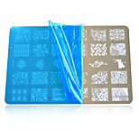 1pcs Nail Art Stamping Plates Colorful Image Nail Art Tools HK07-10