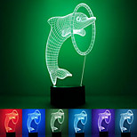 Dolphin Creative Colorful USB 3D Led Night Light