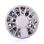 Manicure Love White Diamond Jewelry Ornaments Nail Disc Peach AB Drill 12 Lattice Loaded Turntable