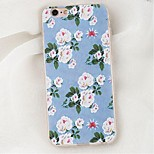 Per Custodia iPhone 6 / Custodia iPhone 6 Plus Resistente agli urti Custodia Custodia posteriore Custodia Fiore decorativo Morbido TPU
