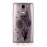 espalda Diseño Diente de león TPU Suave Luxury Bronzing Cubierta del caso para LG LG K10 / LG K8 / LG K7