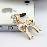 F208 Korean Cute Bow Oil Dust Plug 3.5MM Universal Mobile Phone Dustproof plug