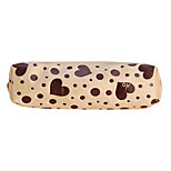 Flannelette Heart Pattern Pen Bag