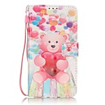 EFORCASE® Balloon Bear 3D Painted Lanyard PU Phone Case for Huawei P9lite