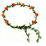 The Bride Bridesmaid Wrist Flower Garland Headband Seaside Resort Photo Props Hair Jewelry