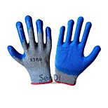 Cotton Yarn Dipped Gloves Wear Gloves Hanging Palm Skid Construction Site