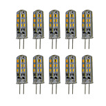 3W G4 LED Bi-pin Lights 24 SMD 3014 300 lm Warm White / Cool White Decorative DC 12V 10 pcs/Pack
