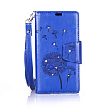 For Nokia Lumia 650/550 Luxury Retro Dandelion Diamonds embossed wallet Phone Cover With Stand Card Holder