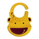 Bib Pocket Newborn Bibs Silicone Waterproof Animal Baby Bib For Boy Girl (giraffe)
