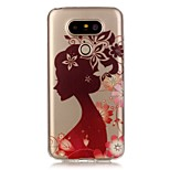 Hollow High Permeability Silhouette Girl Pattern TPU Soft Case Phone Case For LG G5/K5