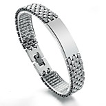 Men's Hight Quality Titanium Steel Silver Bracelet