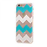 Kinston® Blue and White Stripes Pattern TPU Soft Protective Case Cover for iPhone 6/6S/6 Plus/6S Plus