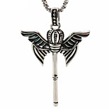 Retro Male Key Pendant Necklace Titanium Crown