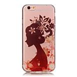 Hollow High Permeability Silhouette Girl Pattern TPU Soft Case Phone Case For iPhone 5/5S/SE/6/6s/ 6 Plus/6s Plus
