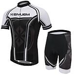 KEIYUEM Bicicletta/Ciclismo Maglietta + pantaloncini/Maglia+Pantaloncini/Cosciali / Set di vestiti/Completi Unisex Maniche corte