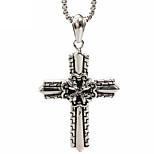 Retro Knight Cross Titanium Necklace Pendant