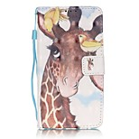 EFORCASE® Birds Deer 3D Painted Lanyard PU Phone Case for Huawei P9lite