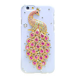 Back Rhinestone Animal PC Hard Peacock Case Cover For Apple iPhone 6s Plus/6 Plus / iPhone 6s/6