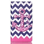 EFORCASE® Pink Wave Anchor Painted PU Phone Case for Sony XPERIA M4/Z5/Z5mini