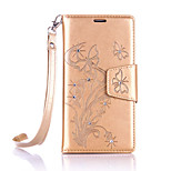 Lanyard Embossed Diamond Phone Holster Phone Shell for Nokia Lumia 650/550