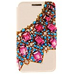 Kinston® Gemstone Jewelry Diamond Paste Pattern PU Leather Full Cover with Stand for iPhone SE/5/5s/6/6s/6 Plus/6s Plus