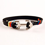 Men's Anchors Friendship Charm Bracelet Leather Valentine Tibet Day Bracelets