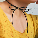 Necklace Choker Necklaces / Layered Necklaces Jewelry Party / Daily / Casual Fashionable / Vintage Flannelette Black 1pc Gift